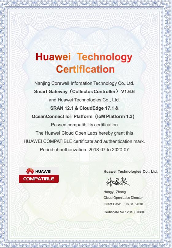 <p> 华为技术认证证书 </p>